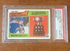 1983 O-PEE-CHEE #204 Wayne Gretzky Ross Trophy  PSA 8 NM-MINT