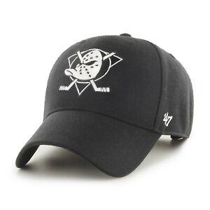 NHL Anaheim Mighty Ducks Cap Basecap Baseballcap MVP black White 194602063669