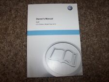 2012 Volkswagen VW Golf Owner User Guide Manual TDI 2.0L Diesel & 2.5L Gas