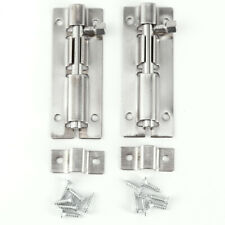 4pcs 2/3/4 inch Home Gate Security Door Guard Stainless Steel Bolt Slide Lock
