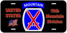10th Mountain Division Novelty Car License Plate