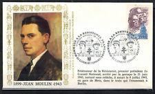 1986-Fdc-Enveloppe Philatélique 1°Jour**Jean.Moulin-Obl.Clermont.Ferrand-Yt.2172