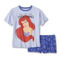 The Little Mermaid Ariel Pajamas Womens Plus Size 2X Disney Set Top/Shorts NEW