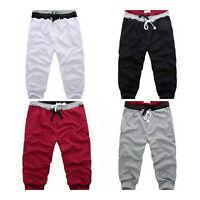 Mens Loose 3/4 knee Jogger Shorts Casual Gym Trousers Harem Pants Sport short!w