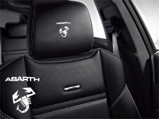 5x Abarth Aufkleber Logo Simbol für Ledersitze Fiat 500 Punto Lancia Spyder...