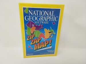 """Zip Zap Map Canada National Geographic Software 3.5"""" Disk New Sealed VTG (1994)"""
