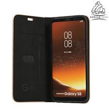Gorilla Tech Durable Carbon Fibre Ultra Lightweight Slim Book Full Cover Samsung Galaxy S8 Black