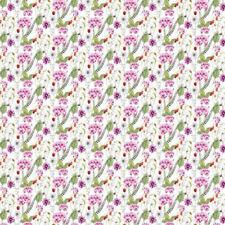 100% Baumwolle Digital Stoff violett Ditsy Blumenmuster Blumen Farn Garten 140cm Breite