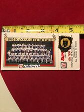 Kansas City Royals 1992 team picture Phillips 66 collector pin Stadium promotion