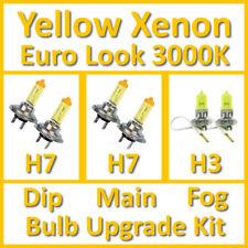 Warm White 3000K Yellow Xenon Headlight Bulb Set Main Dip Fog H7 H7 H3 Kit