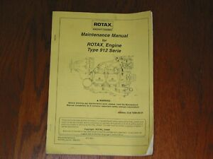 MAINTENANCE MANUAL FOR ROTAX ENGINE TYPE 912 SERIE P/N 899 372