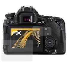 atFoliX 3x Beschermfolie voor Canon EOS 80D Screen Protector mat&schokbestendig