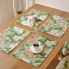 Tapis de Tableau Vaisselle Mats Pads Pays Américain Napperon Set de Table Nappes