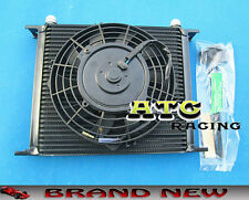 "Universal 30 Row 10 AN Transmission Oil Cooler + 7"" Electric Fan"