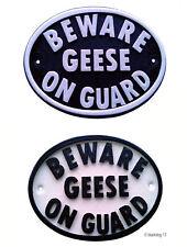 Beware Geese On Guard - House Garden Sign Plaque