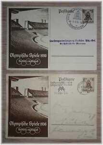 "#43 Germany 3rd Reich RARE postcards ""Olympic summergames Berlin"" Stadium 1936**"
