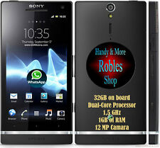 "Sony XPERIA S 32GB Black Ohne Simlock WLAN 3G GPS 12MP 4,3"" Android 4 GUT OVP"