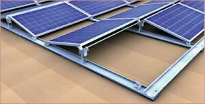 Ost/West Flachdach 13° Verbund-Systemaufbau Konfigurator 4 - 40 Solarmodule