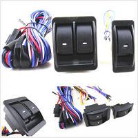 3 Pcs Button Car Power Window Motor Switch w//Wire Harness Kit For 2-Door SUV Van