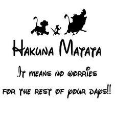 Hakuna Matata Lion King.... VINYL WALL STICKER