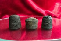 3 thimbles copper different  11 -14 cent. Kievan Rus weaving