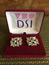 BRAND NEW & BOXED! DSI London - Silver Diamante Dance / Wedding Shoe Decorations