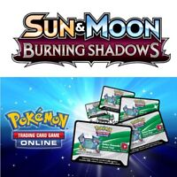 10 Burning Shadows Codes Pokemon Sun & Moon TCG Online Booster EMAILED FAST!
