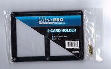 Ultra Pro 4-Screw 2-Card Black Border Screwdown Card Holder Recessed