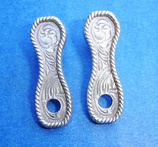 "Western Decorament Antique Silver Concho Post Earring Adapters 1 1/4"" X 3/8"""