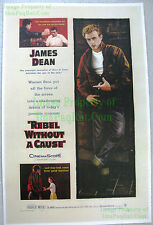 80's Vintage ☆ REBEL WITHOUT A CAUSE ☆ James Dean Natalie Wood Lobby Card Poster