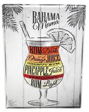 Tin Sign XXL Alcohol Retro  Bahama Mama Kitchen