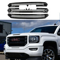 Front Grill Cover For 2016-2018 GMC Sierra 1500 SLT Grille Overlay Gloss Black