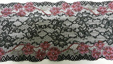 5 Meter Black and Red Lace Trim