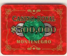 NEW Casino Royal Plaque $500,000 Casino Quality Poker James Bond Movie Plaque *