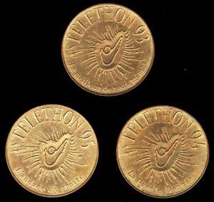 LOT 3 Médailles TELETHON 1993 1994 1995 - FRANCE - des gènes pour guerir