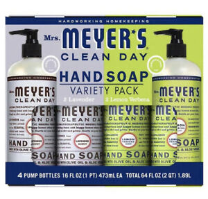 Mrs. Meyer's Clean Day Hand Soap 16 fl oz each, 4-pack