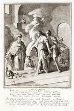 1708 Bibbia BIBLIA cena di Gesù morto teste GUFO rame di Weigel dopo LUYKEN