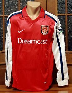 Arsenal FC Long Sleeve Home Football Shirt Jersey 2000/02