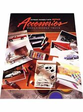 1990 1991 Dodge Mopar Car Truck Dealer Accessories Brochure for Daytona Dakota