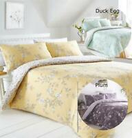 Duvet Cover Set Bedding Bed Set Reversible Ochre Duck Egg Plum