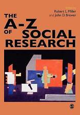The A--Z of Social Research: A Dictionary of Key Social Science-ExLibrary