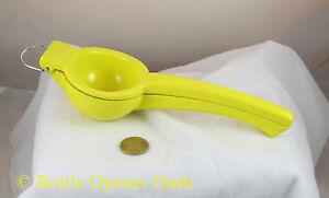 Yellow Lemon Squeezer, Aluminum w/ Baked On Enamel Coating, Dishwasher Safe New!