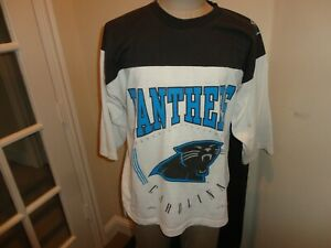 Vtg 90's Nutmeg Mills Carolina Panthers BIG Logo NFL Jersey Shirt  Fits Adult L