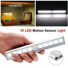 Kitchen Under Cabinet Shelf Counter LED Light Bar 10 LED Motion Sensor Lamp USA