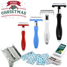 Butterfly Safety Razor & Blades - Double Edge Safety razor - Plastic Free, GIFT