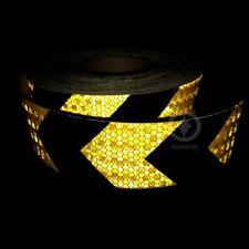 5cmx3m brillante Reflectante Advertencia Autoadhesiva stikcer con Color Negro Amarillo