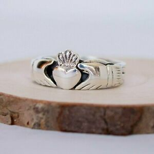 4 piece Sterling Silver Claddagh Puzzle Ring