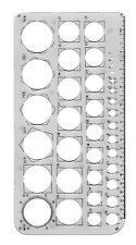 Plantilla plantilla Círculos Tamaños de 1mm a 36mm Dibujo Escuela Colegio Matemáticas Círculo