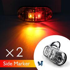 2X Red&Amber 10V-30V Light LED Strobe Side Marker Trailer Clearance Truck Pickup