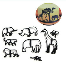 New listing 8pcs/set Cookie Cutter Plastic Animals Fondant Biscuit Mold Cutter Cake Mold Rs